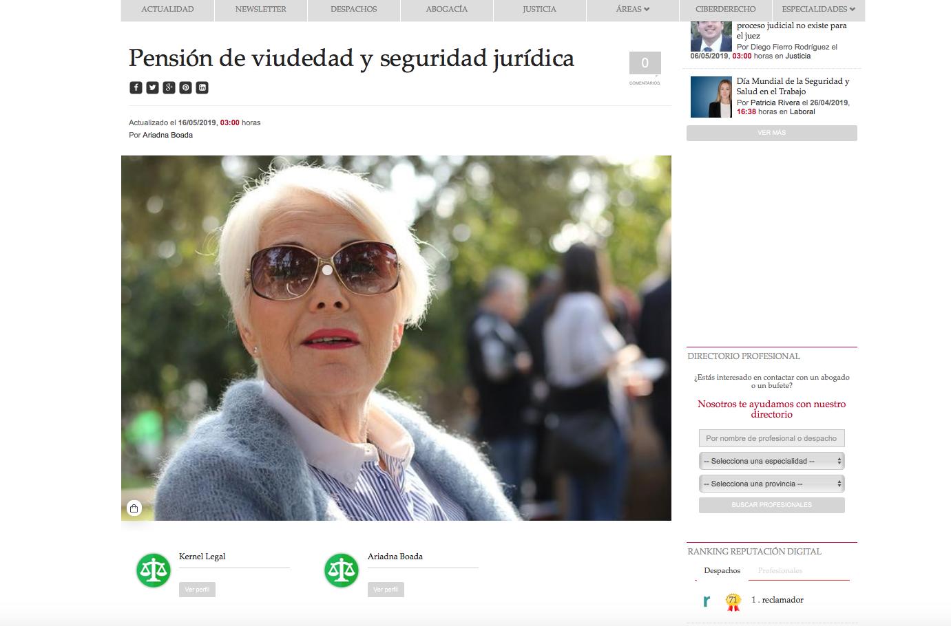 ariadna boada pension viudedad law trends
