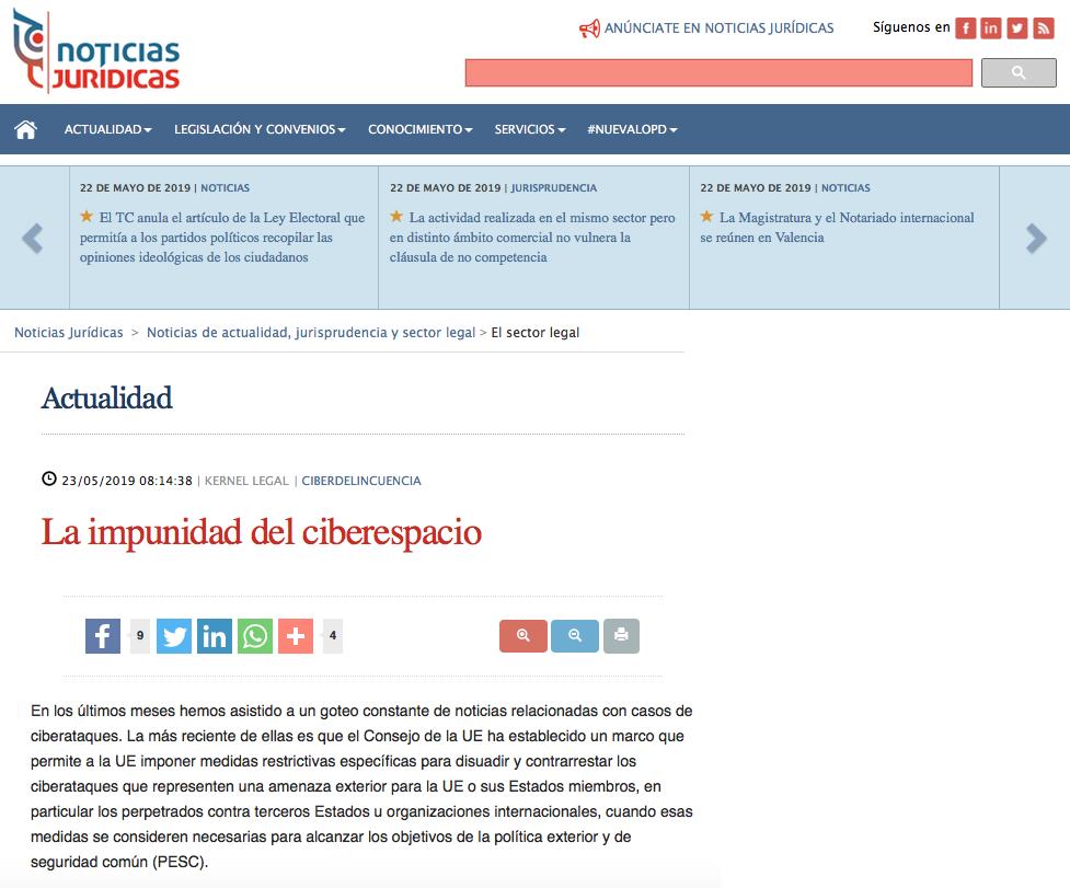 articulo Eduardo Tornero Noticias Juridicas
